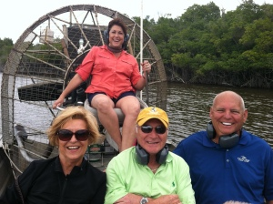 Airboat ride with Bev and Pat Perno