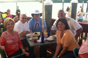 Lunch at the Old Marco Lodge Crab House in Goodland, FL with the Pernos and Duggan